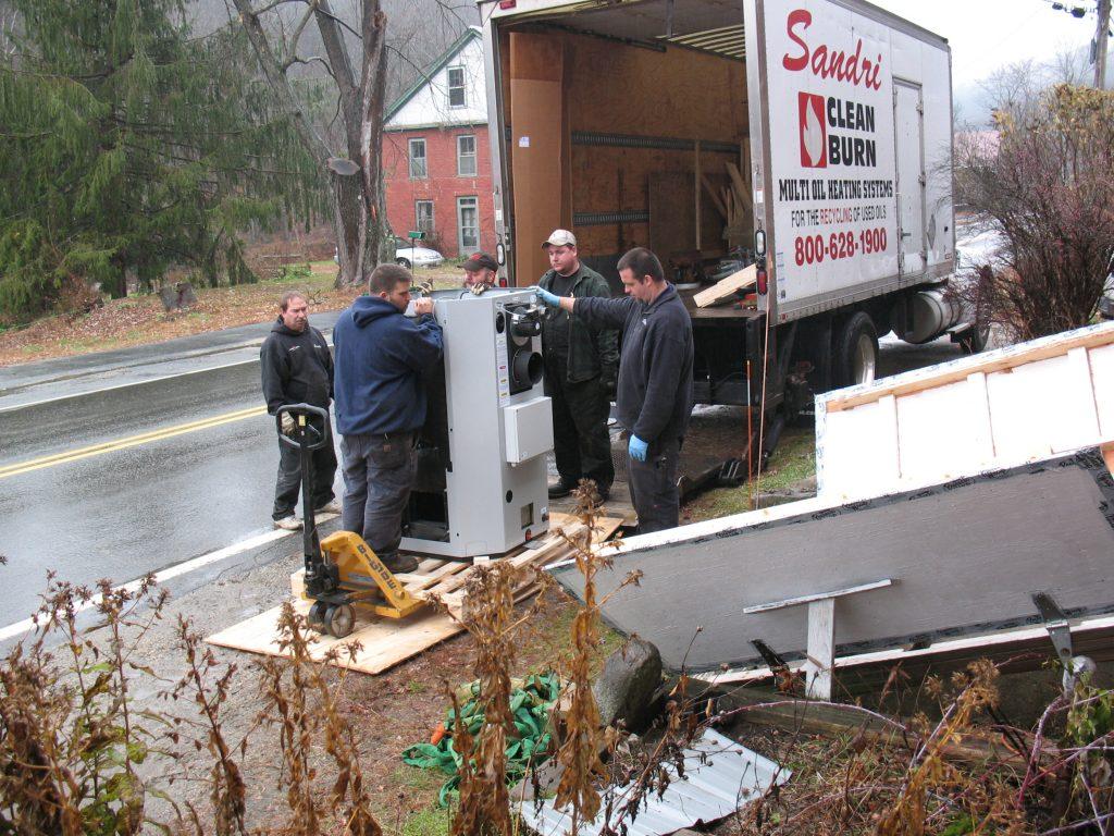 Unloading the Boiler