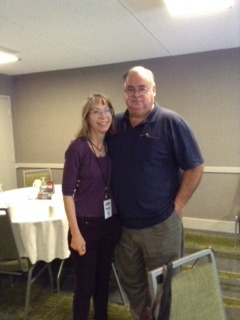 Julia Ferrari with Michael Bixler, keyboard teacher & mentor