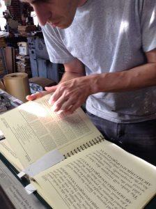 Nick deciphering typefaces